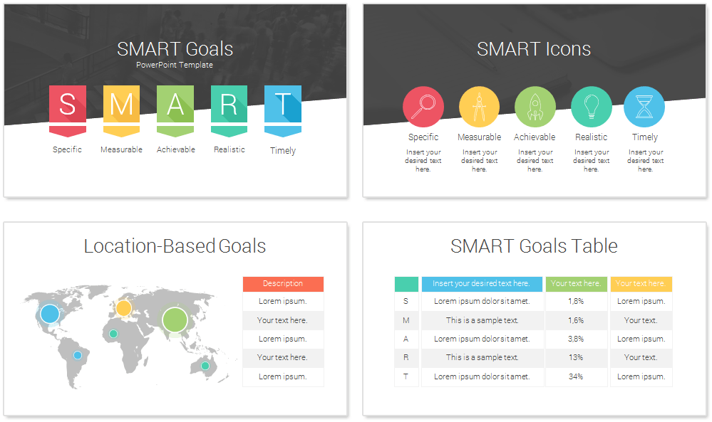 Smart goals powerpoint template presentationdeck smart goals powerpoint template toneelgroepblik Images