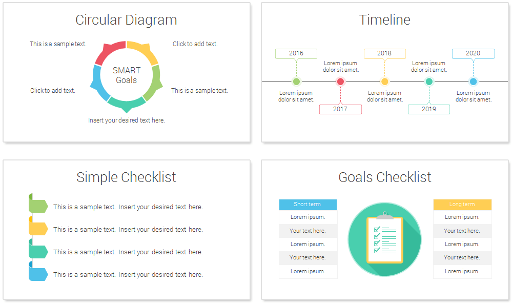 Smart goals powerpoint template presentationdeckcom for How to set up a powerpoint template