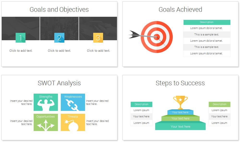 smart goals powerpoint template   presentationdeck