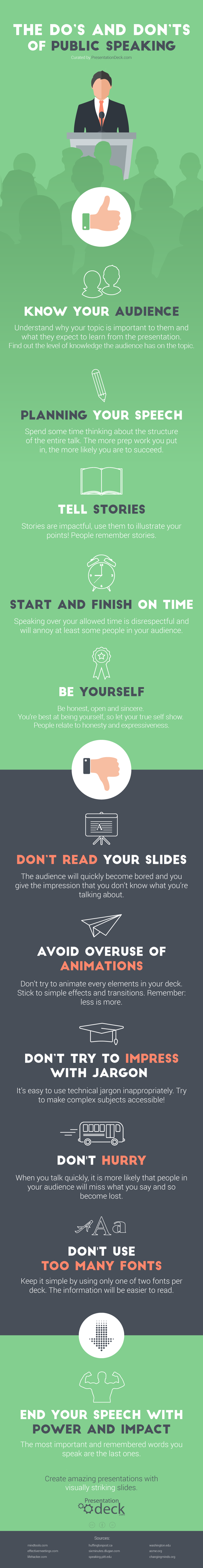 Infographic: The Do's and Don'ts of Public Speaking