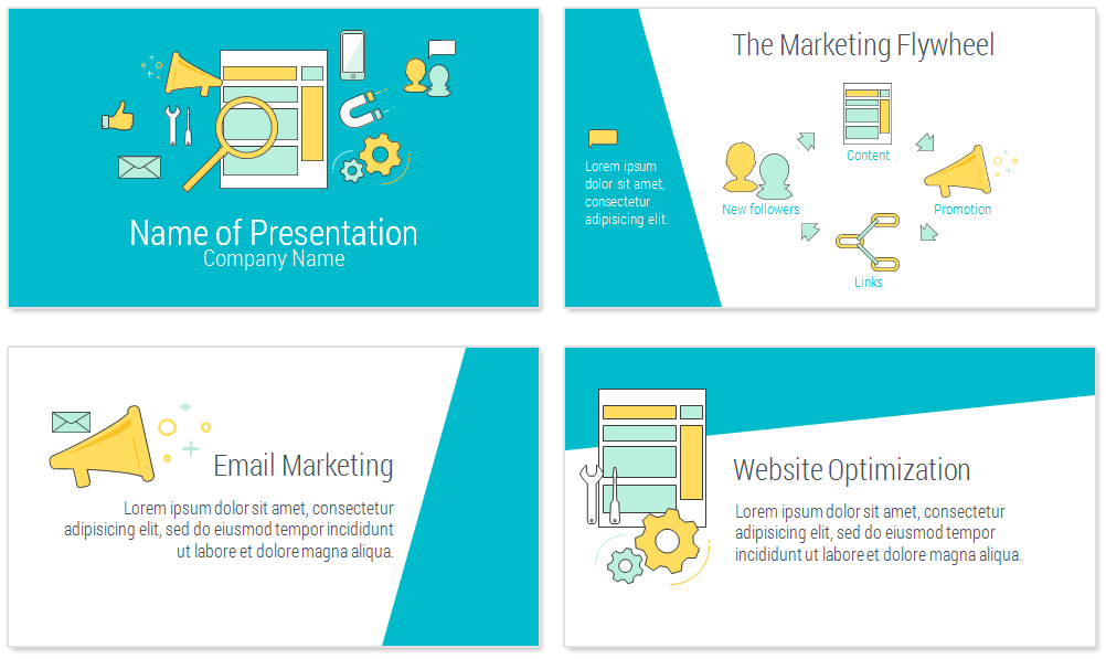 online marketing powerpoint template presentationdeckcom
