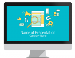 Digital marketing powerpoint template presentationdeck online marketing powerpoint template toneelgroepblik Images