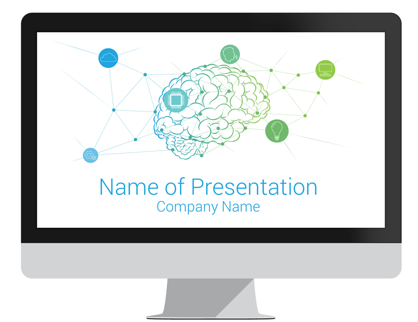 artificial intelligence powerpoint template - presentationdeck, Modern powerpoint