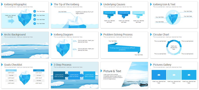 Iceberg PowerPoint Slide Deck