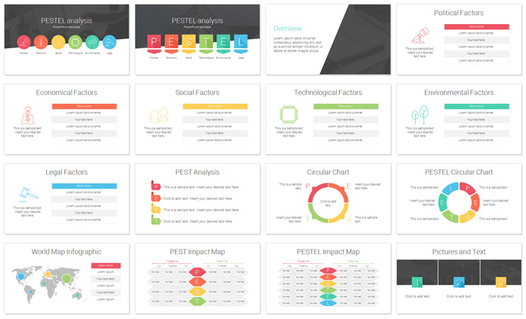 PESTEL Analysis PowerPoint Template PresentationDeck – Product Description Template