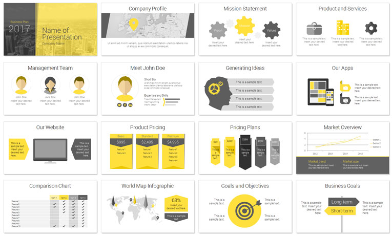 Modern Business Plan PowerPoint Template