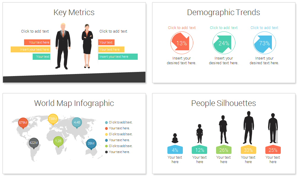 demographic powerpoint template   presentationdeck