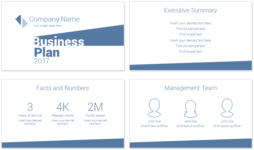 minimal business plan powerpoint template - presentationdeck, Presentation templates