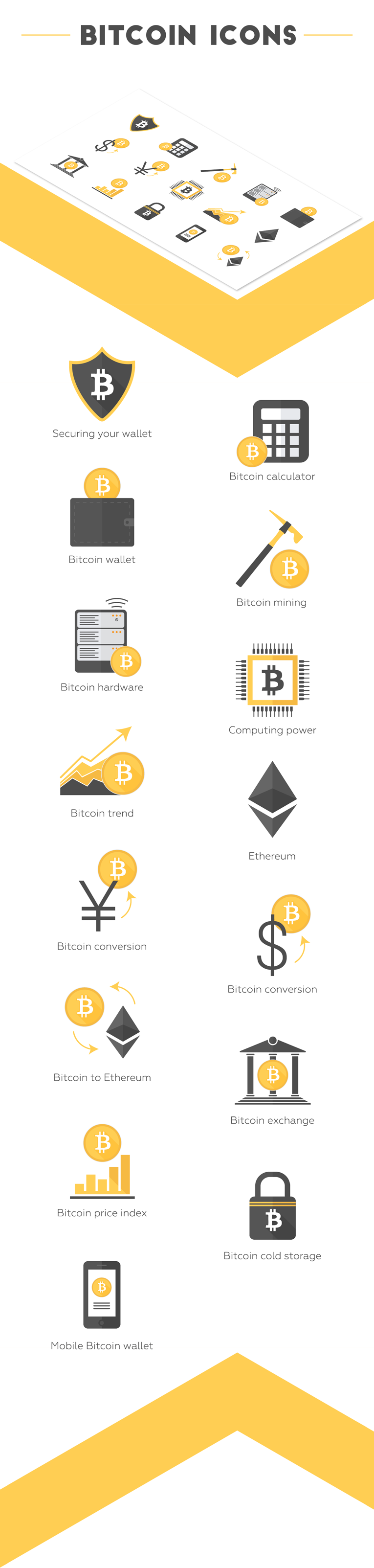 Bitcoins icons